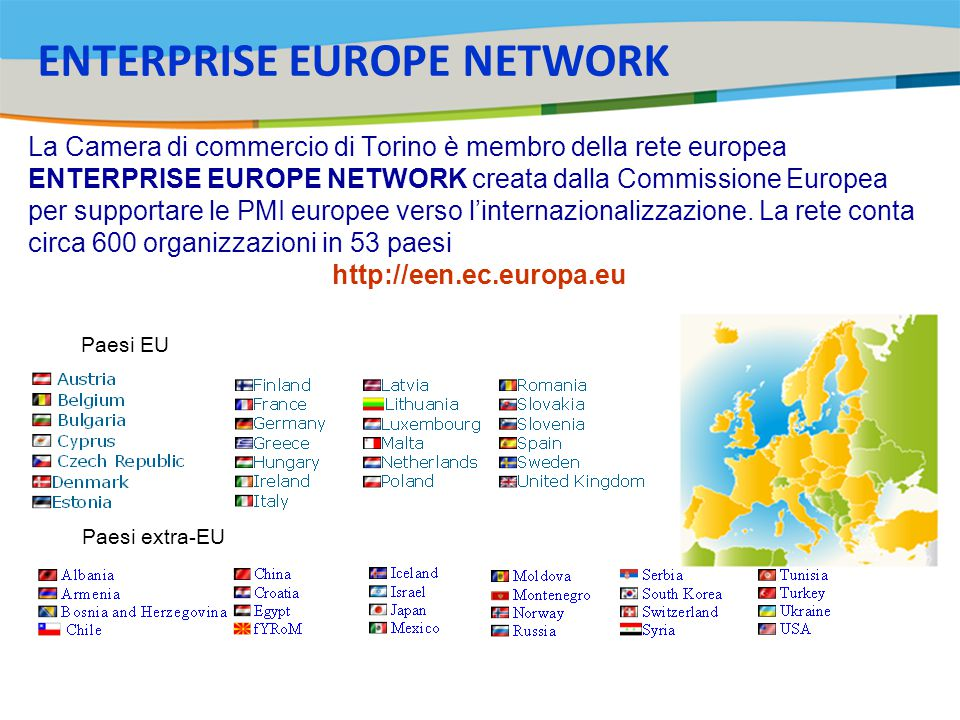 Title of the presentation | Date |‹#› La Camera di commercio di Torino è membro della rete europea ENTERPRISE EUROPE NETWORK creata dalla Commissione