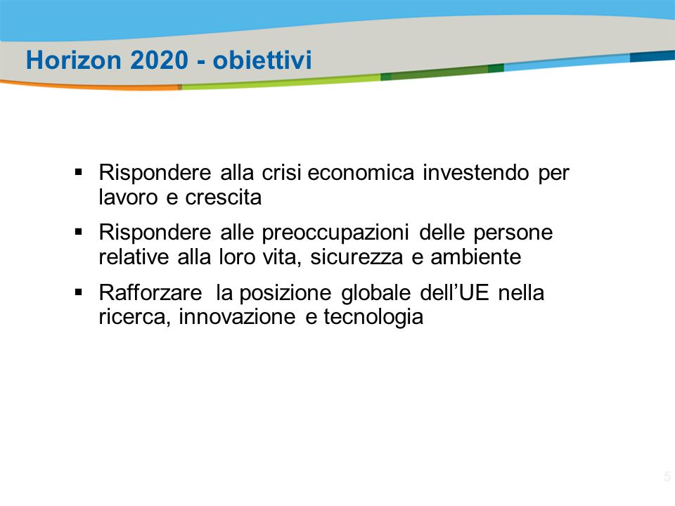 Title of the presentation | Date |‹#› Excellent Science  European Research Council  Frontier research by the best individual teams  Future and Emerging Technologies  Collaborative research to open new fields of innovation  Marie Skłodowska Curie actions  Opportunities for training and career development  Research infrastructures (including e-infrastructure)  Ensuring access to world-class facilities Industrial Technologies  Leadership in enabling and industrial technologies  ICT, nanotechnologies, materials, biotechnology, manufacturing, space  Access to risk finance  Leveraging private finance and venture capital for research and innovation  Innovation in SMEs  Fostering all forms of innovation in all types of SMEs Societal Challenges  Health, demographic change and wellbeing  Food security, sustainable agriculture, marine and maritime research & the bioeconomy  Secure, clean and efficient energy  Smart, green and integrated transport  Climate action, resource efficiency and raw materials  Inclusive, innovative and reflective societies  Security society European Institute of Innovation and Technology (EIT) Spreading Excellence and Widening Participation Science with and for society Joint Research Center (JRC) H2020 Structure 6