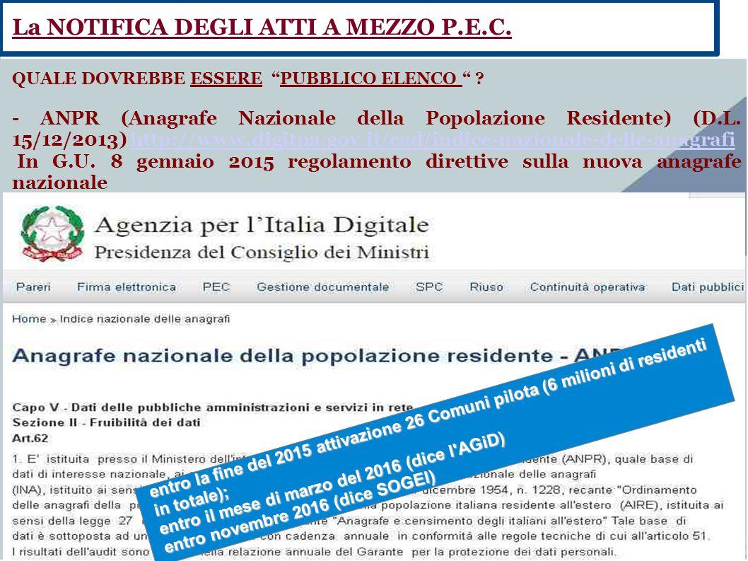 """Fate clic per aggiungere testo QUALE DOVREBBE ESSERE """"PUBBLICO ELENCO """" ? - ANPR (Anagrafe Nazionale della Popolazione Residente) (D.L. 15/12/2013) ht"""