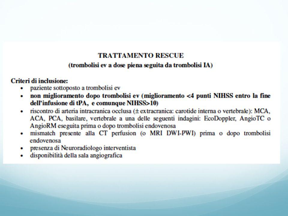 RESCUE THERAPY Modena - Karolinska Stoccolma Trattati 52 pazienti (Modena 17 pazienti, Stoccolma 35 pazienti).