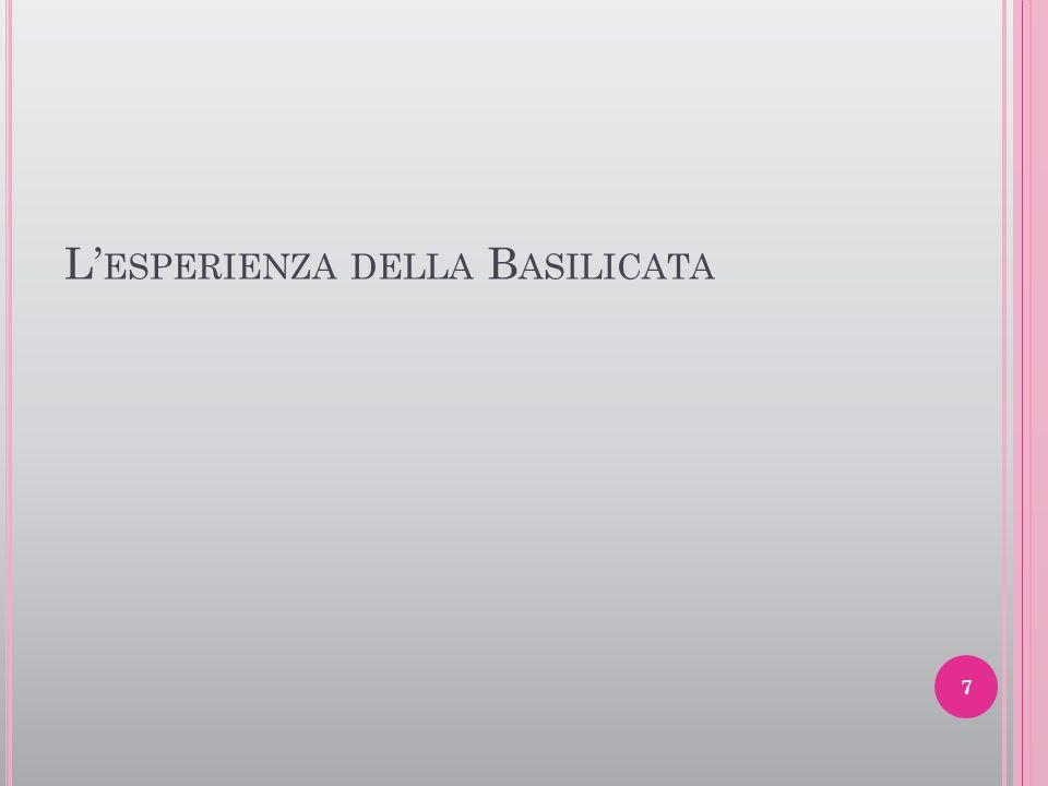 L' ESPERIENZA DELLA B ASILICATA 7