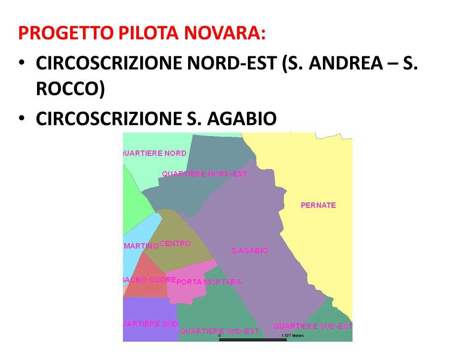 PROGETTO PILOTA NOVARA: CIRCOSCRIZIONE NORD-EST (S. ANDREA – S. ROCCO) CIRCOSCRIZIONE S. AGABIO
