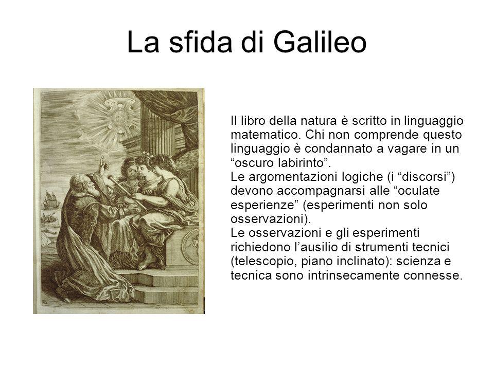 """La sfida di Galileo Il libro della natura è scritto in linguaggio matematico. Chi non comprende questo linguaggio è condannato a vagare in un """"oscuro"""
