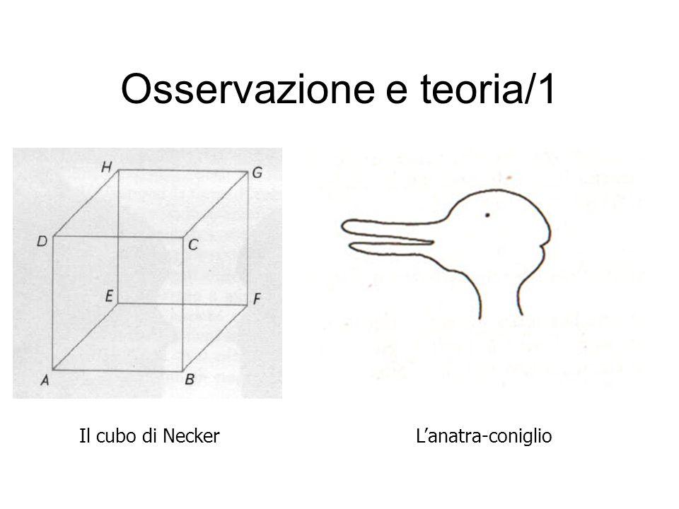 Osservazione e teoria/1 Il cubo di NeckerL'anatra-coniglio