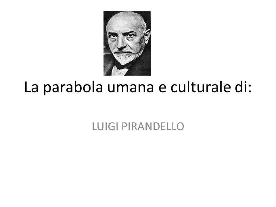 La parabola umana e culturale di: LUIGI PIRANDELLO