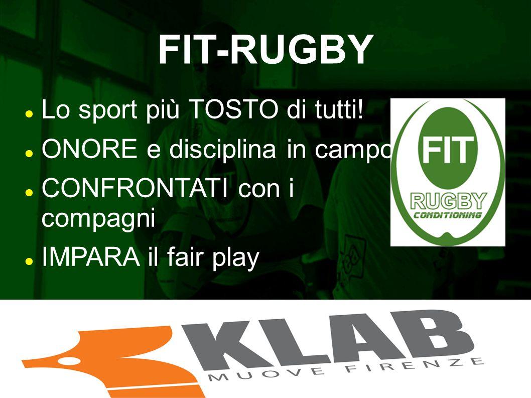 FIT-RUGBY Lo sport più TOSTO di tutti! ONORE e disciplina in campo CONFRONTATI con i compagni IMPARA il fair play