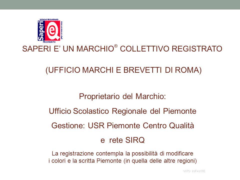 S SAPERI E' UN MARCHIO ® COLLETTIVO REGISTRATO (UFFICIO MARCHI E BREVETTI DI ROMA) Proprietario del Marchio: Ufficio Scolastico Regionale del Piemonte