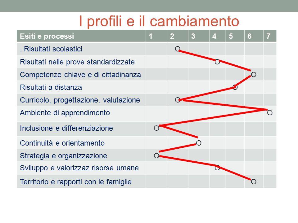 I profili e il cambiamento Esiti e processi1234567. Risultati scolasticiO Risultati nelle prove standardizzateO Competenze chiave e di cittadinanzaO R