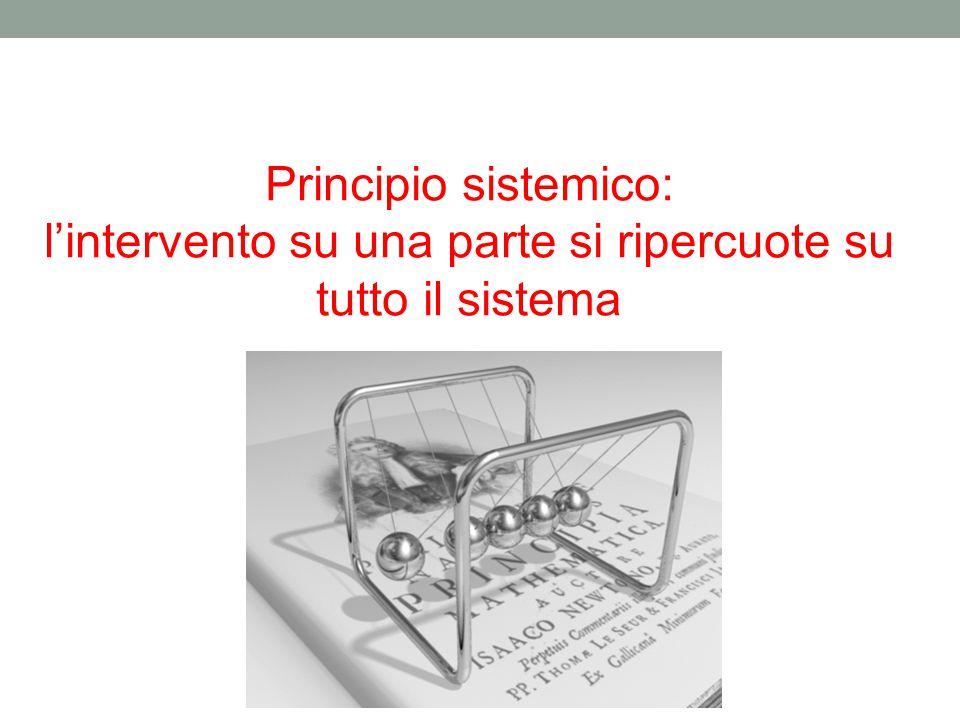 Principio sistemico: l'intervento su una parte si ripercuote su tutto il sistema