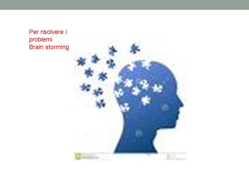 Per risolvere i problemi Brain storming