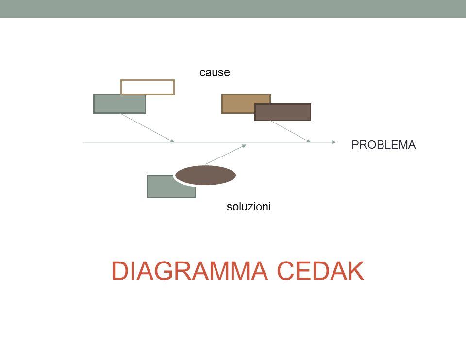 DIAGRAMMA CEDAK PROBLEMA cause soluzioni