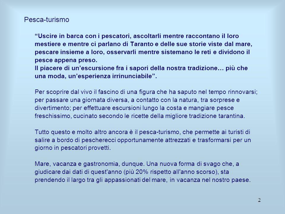 23 La localizzazione di quest'attività a Taranto su Via Garibaldi potrebbe favorire l'insediamento di attività di artigianato e prodotti tipici locali, agevolando occupazione e incentivando il turismo nella nostra città.