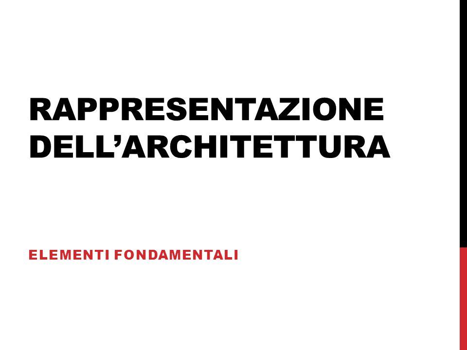 RAPPRESENTAZIONE DELL'ARCHITETTURA ELEMENTI FONDAMENTALI