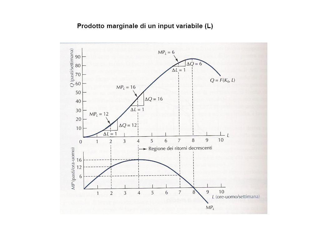 Prodotto marginale di un input variabile (L)