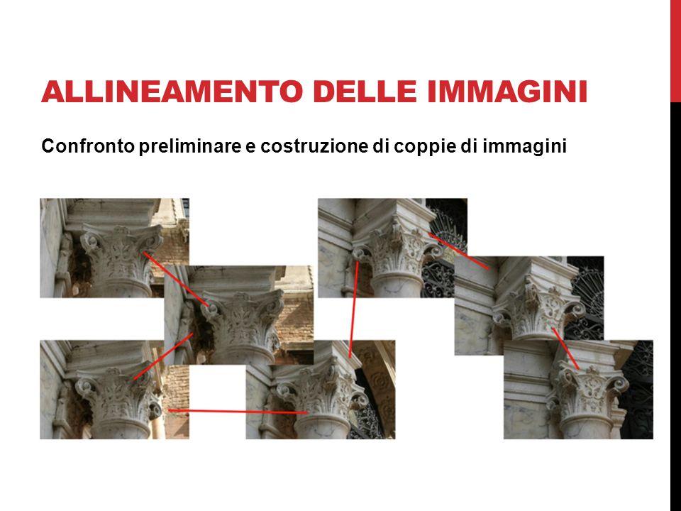 ALLINEAMENTO DELLE IMMAGINI Confronto preliminare e costruzione di coppie di immagini