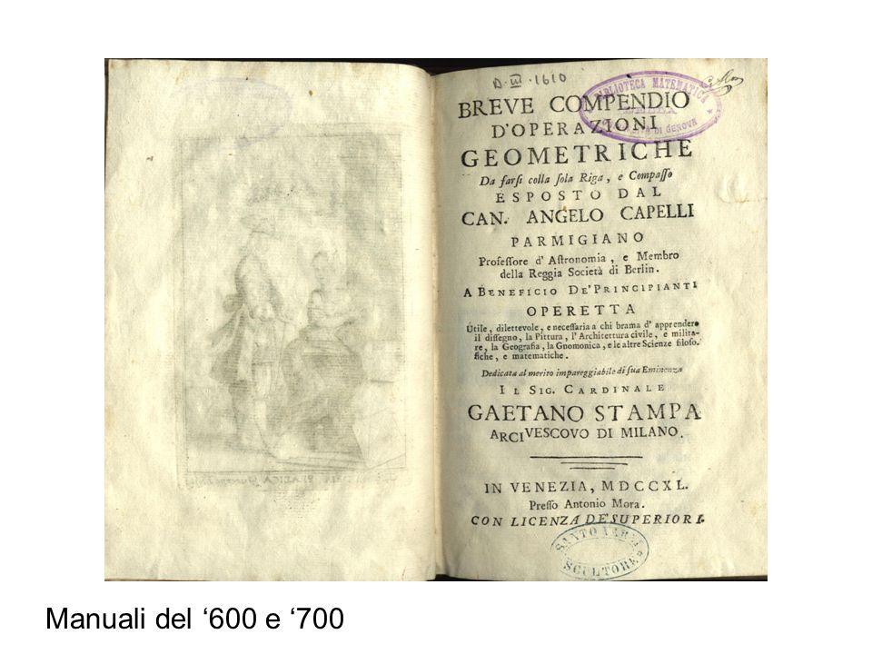 Manuali del '600 e '700