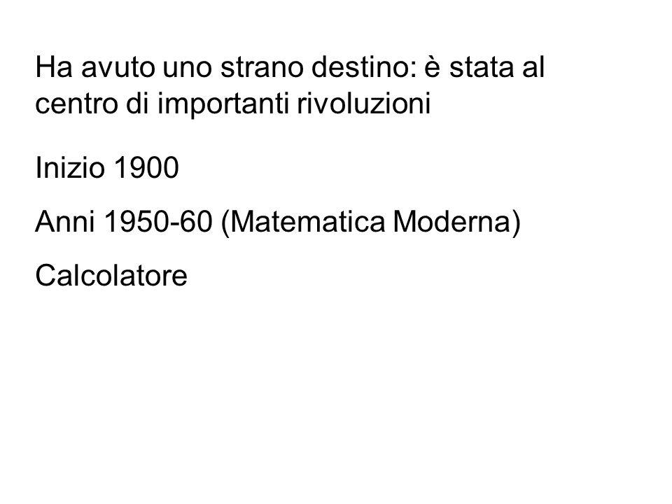 """Dall'Ottocento la geometria (euclidea) entra nei programmi di ogni tipo di scuola Diventa un argomento """"tradizionale"""" quasi """"conservatore"""""""