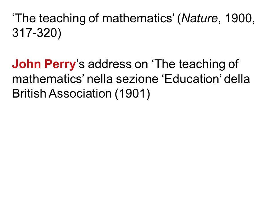 Nell'Ottocento in UK gli esami di ammissione alle università di Cambridge, London e Oxford consistevano in esercizi meccanici di geometria euclidea Au