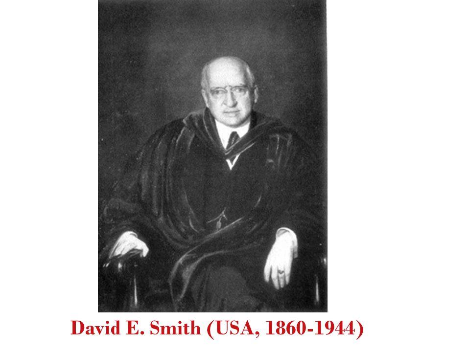 David E. Smith (USA, 1860-1944)