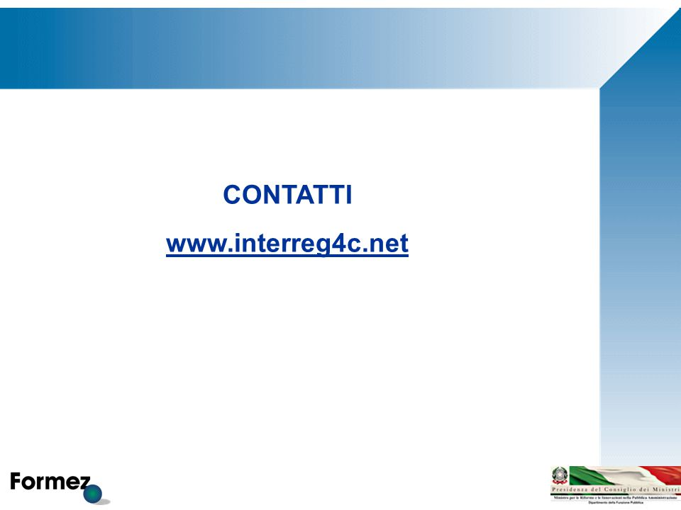 CONTATTI www.interreg4c.net