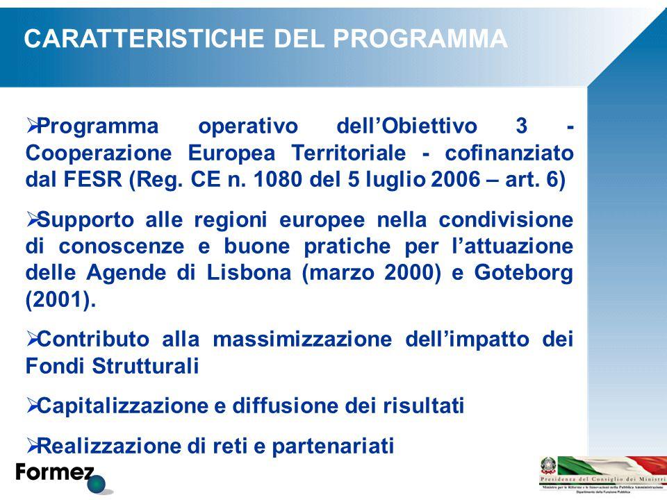  Programma operativo dell'Obiettivo 3 - Cooperazione Europea Territoriale - cofinanziato dal FESR (Reg. CE n. 1080 del 5 luglio 2006 – art. 6)  Supp