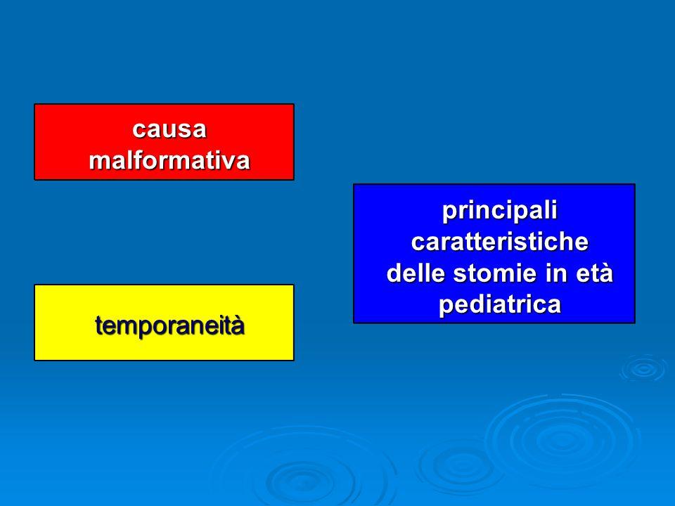 causa malformativa temporaneità principali caratteristiche delle stomie in età pediatrica