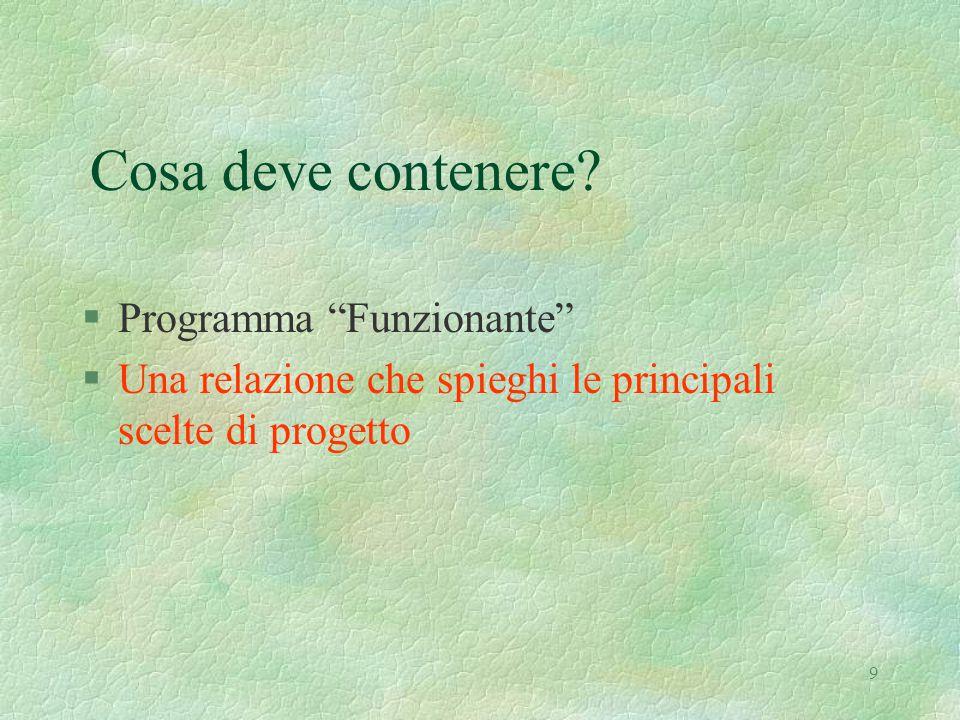 10 Obiettivo del Progetto §Progettare un semplice tipo di dato astratto §Partiamo dal problema