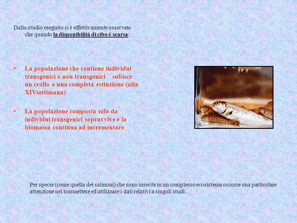 Per specie (come quella dei salmoni) che sono inserite in un complesso ecosistema occorre una particolare attenzione nel trasmettere ed utilizzare i d