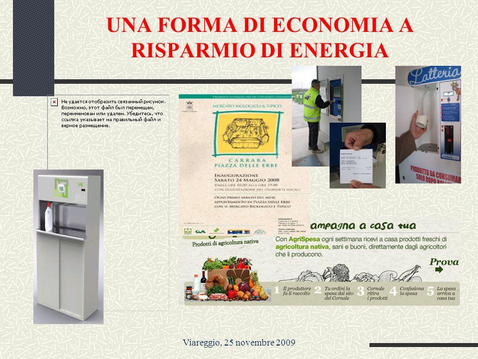 Viareggio, 25 novembre 2009 UNA FORMA DI ECONOMIA A RISPARMIO DI ENERGIA I MERCATI
