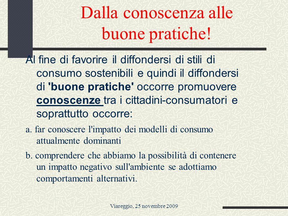 Viareggio, 25 novembre 2009 Dalla conoscenza alle buone pratiche.