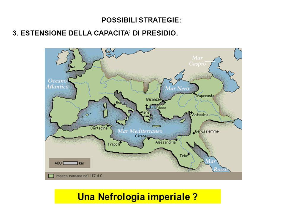 POSSIBILI STRATEGIE: 3. ESTENSIONE DELLA CAPACITA' DI PRESIDIO. Una Nefrologia imperiale
