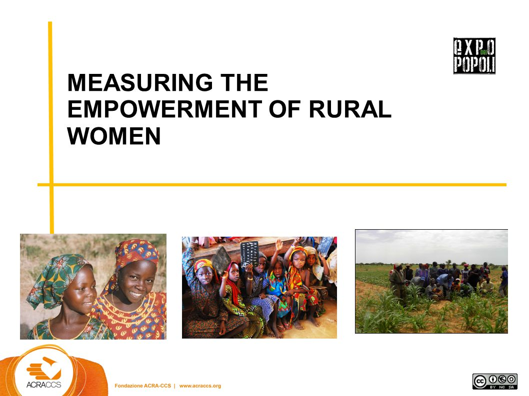 MEASURING THE EMPOWERMENT OF RURAL WOMEN