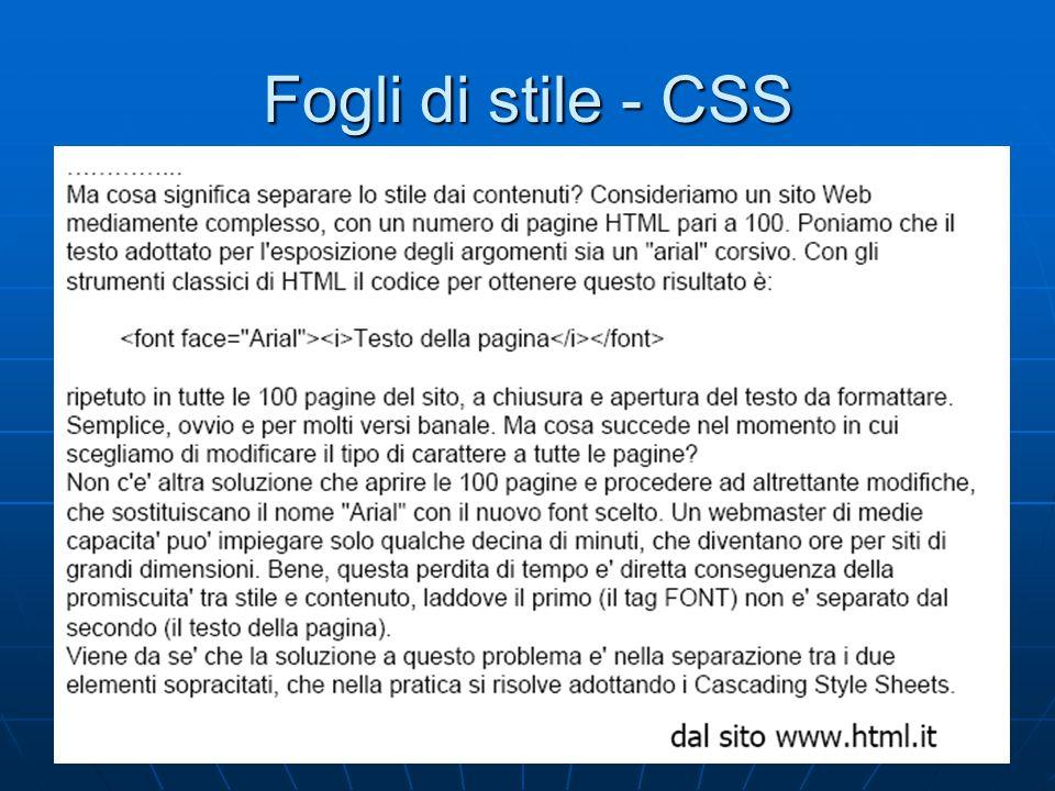 3 Fogli di stile - CSS