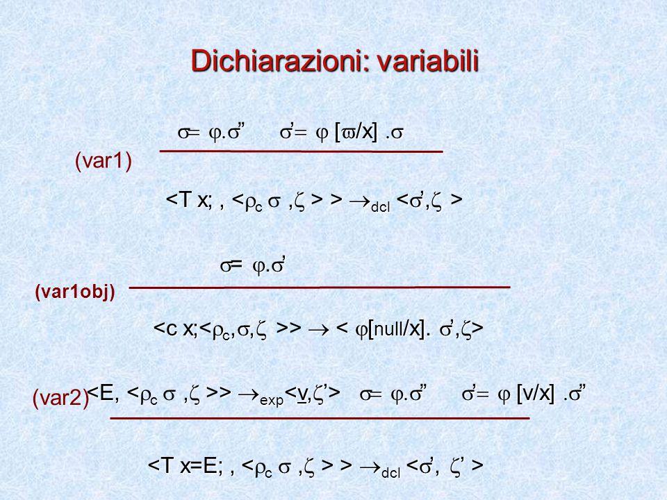 Dichiarazioni: variabili   '  [  /x]    '  [  /x]   dcl >  dcl  = .
