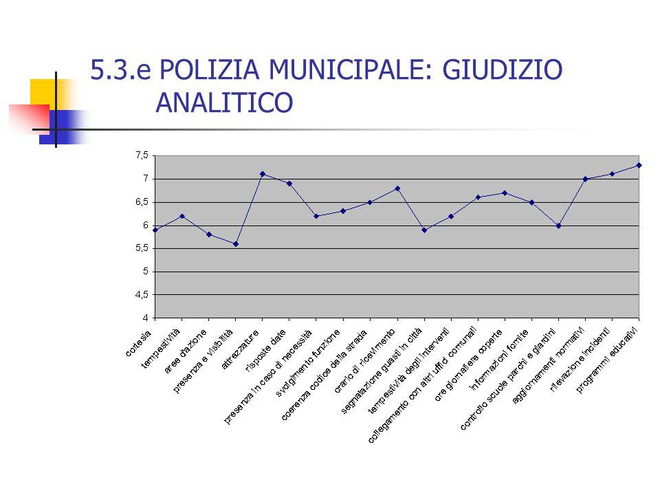 5.3.e POLIZIA MUNICIPALE: GIUDIZIO ANALITICO