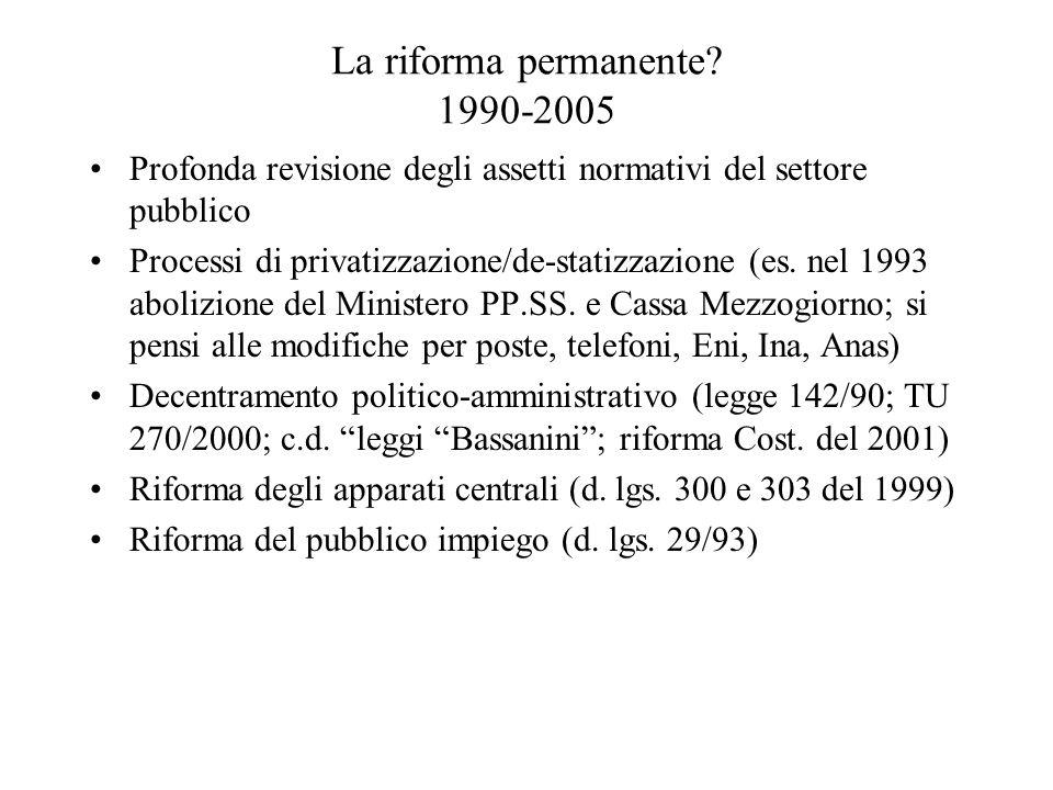 La riforma permanente.