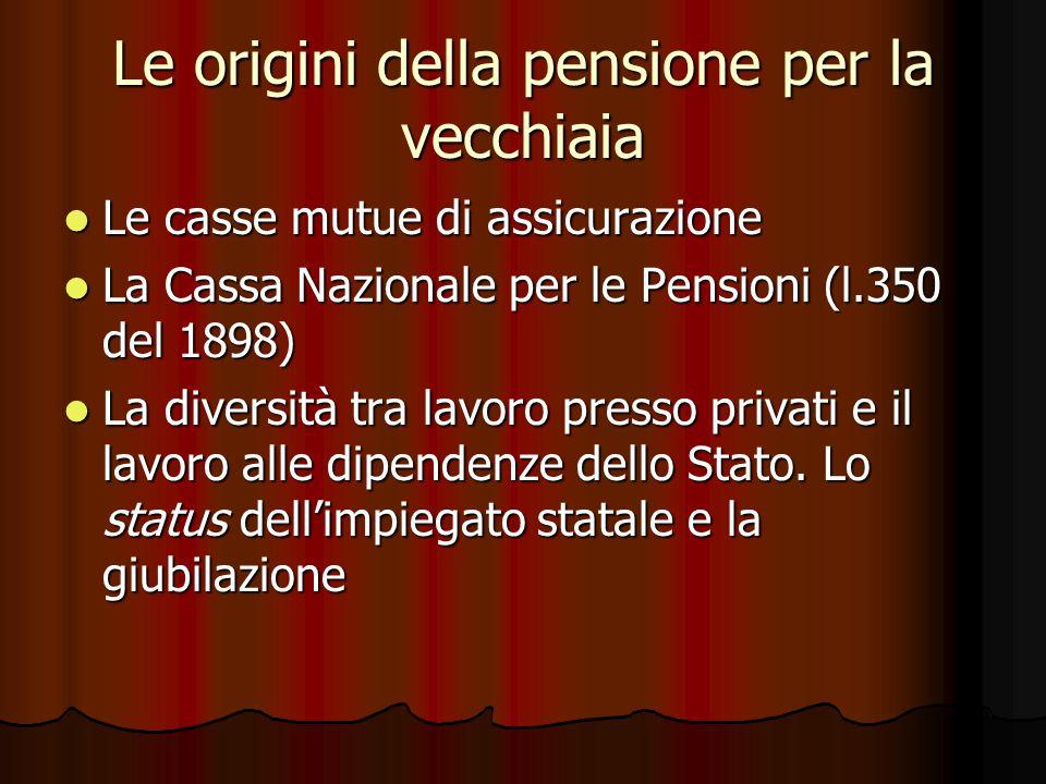 La pensione di anzianità 35 anni di assicurazione e contribuzione (1969) 35 anni di assicurazione e contribuzione (1969) 35 anni + 57 anni di età (1992) 35 anni + 57 anni di età (1992) 40 anni di contribuzione (1992/1995/2004) 40 anni di contribuzione (1992/1995/2004) 35 anni + 61 anni di età (2008.