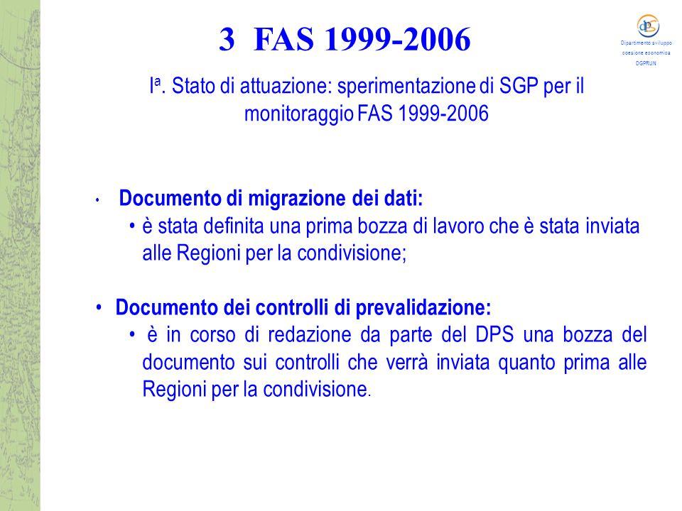 Dipartimento sviluppo coesione economica DGPRUN I a.