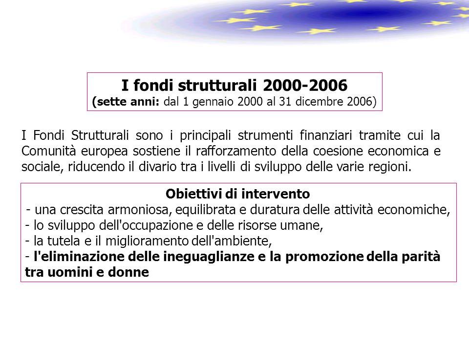 I Fondi Strutturali sono i principali strumenti finanziari tramite cui la Comunità europea sostiene il rafforzamento della coesione economica e social