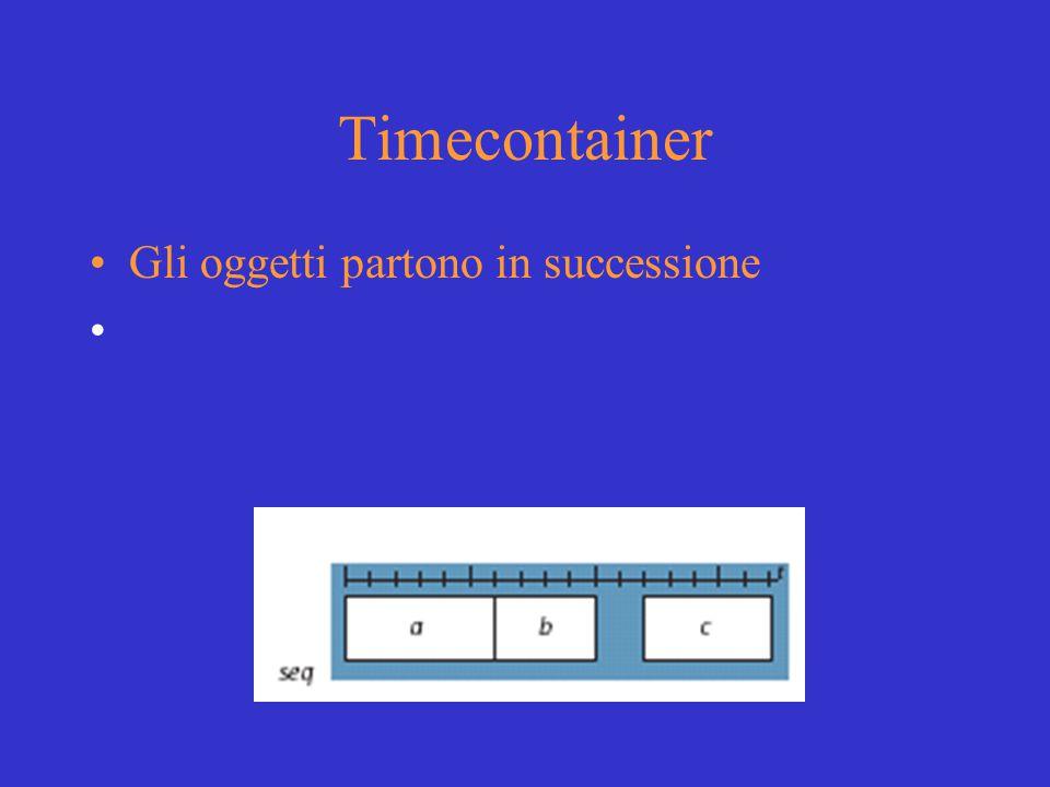 Timecontainer Gli oggetti partono in successione