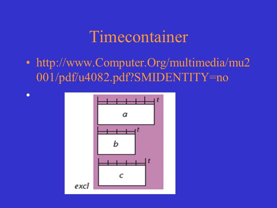 Timecontainer http://www.Computer.Org/multimedia/mu2 001/pdf/u4082.pdf?SMIDENTITY=no