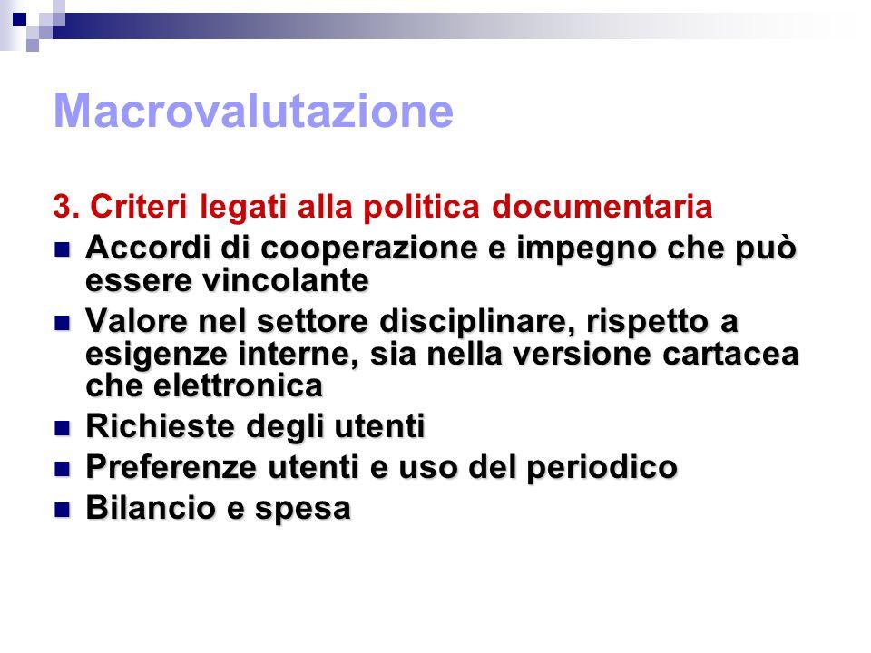 Macrovalutazione 3.