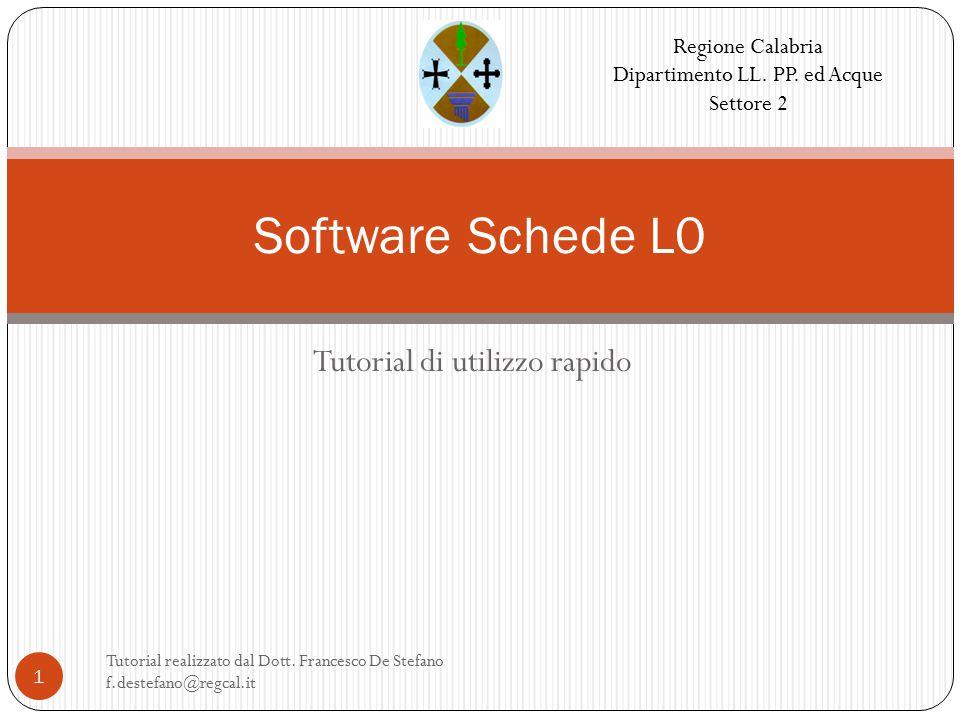 Tutorial di utilizzo rapido Tutorial realizzato dal Dott.