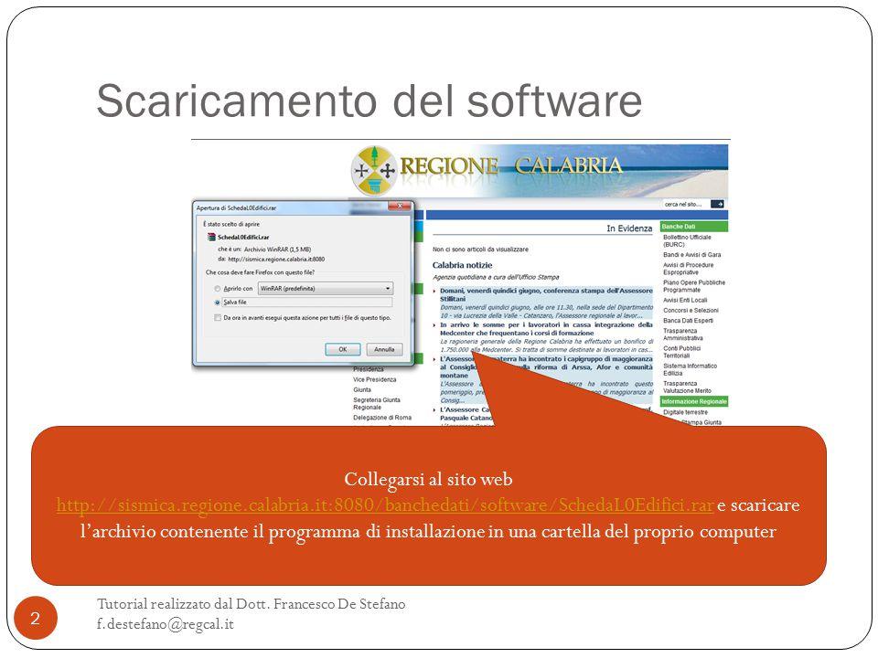 Scaricamento del software Tutorial realizzato dal Dott.
