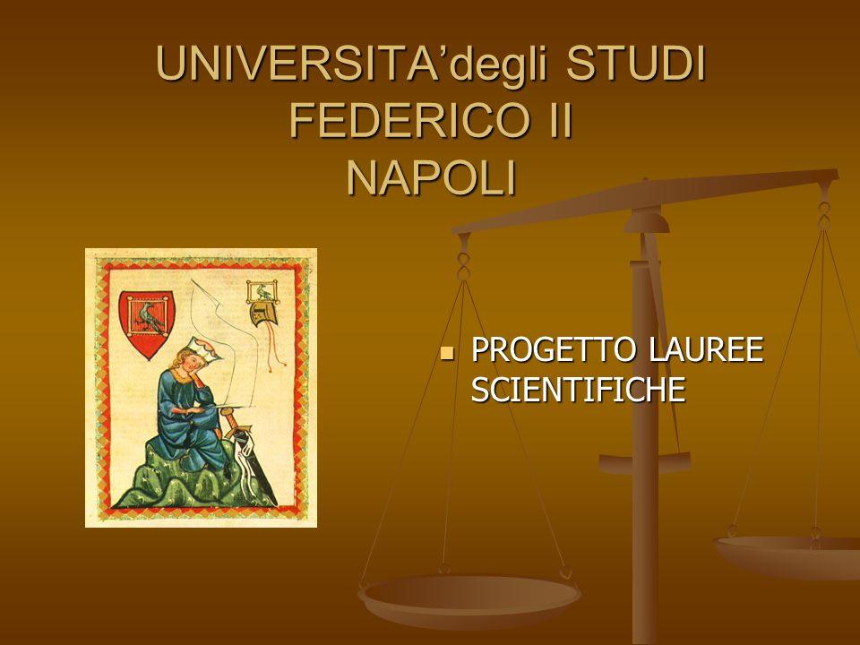 UNIVERSITA'degli STUDI FEDERICO II NAPOLI PROGETTO LAUREE SCIENTIFICHE