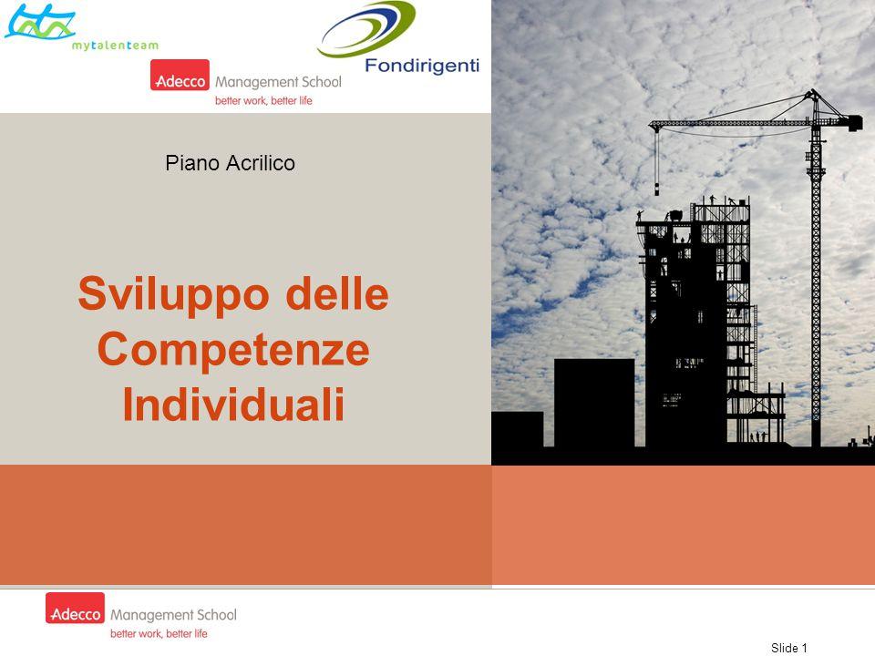 Slide 1 Sviluppo delle Competenze Individuali Piano Acrilico