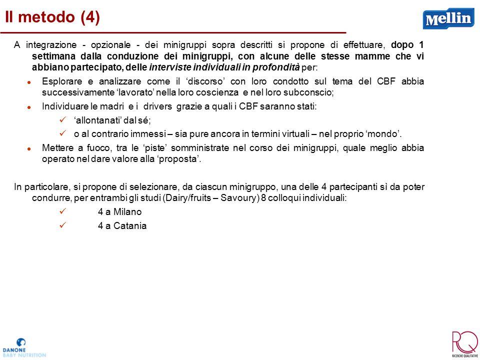 Il metodo (4) A integrazione - opzionale - dei minigruppi sopra descritti si propone di effettuare, dopo 1 settimana dalla conduzione dei minigruppi,