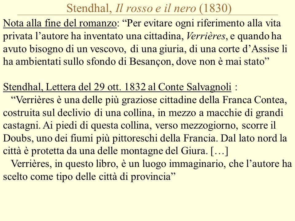 Stendhal: Il romanzo è uno specchio Shakespeare, Hamlet (III, 2): suit the action to the word, the word to the action; with this special o erstep not the modesty of nature: for any thing so overdone is from the purpose of playing, whose end, both at the first and now, was and is, to hold, as twere, the mirror up to nature; to show virtue her own feature, scorn her own image, and the very age and body of the time his form and pressure .
