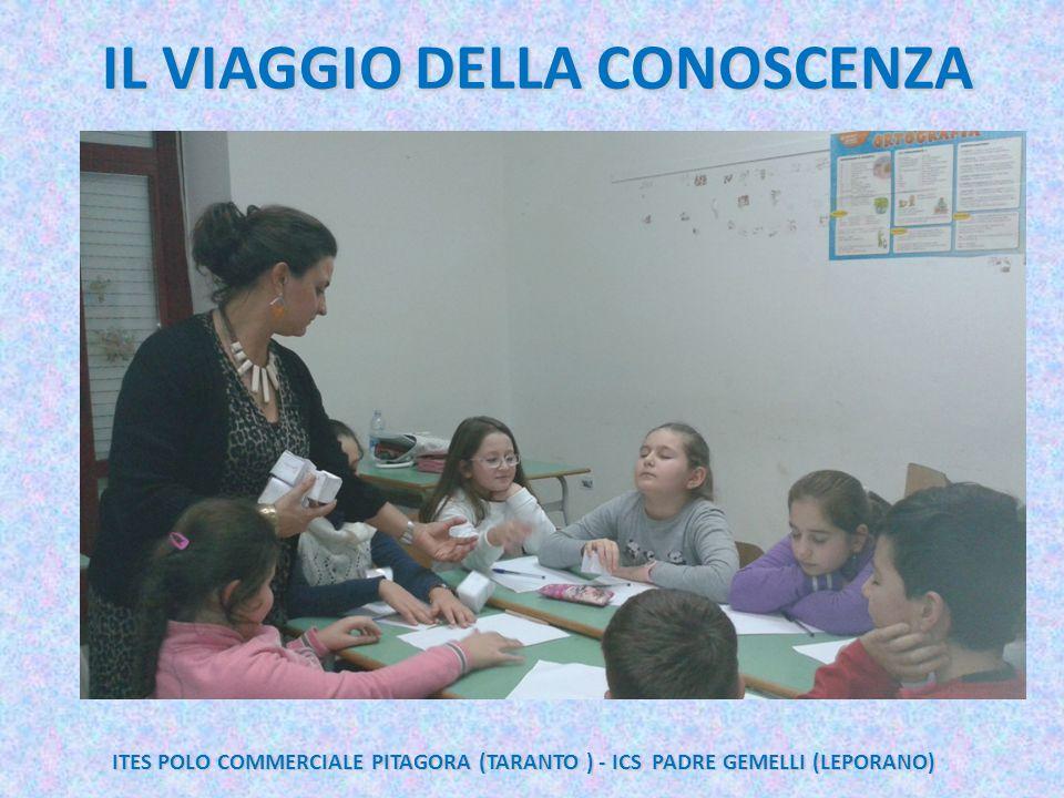 IL VIAGGIO DELLA CONOSCENZA ITES POLO COMMERCIALE PITAGORA (TARANTO ) - ICS PADRE GEMELLI (LEPORANO)