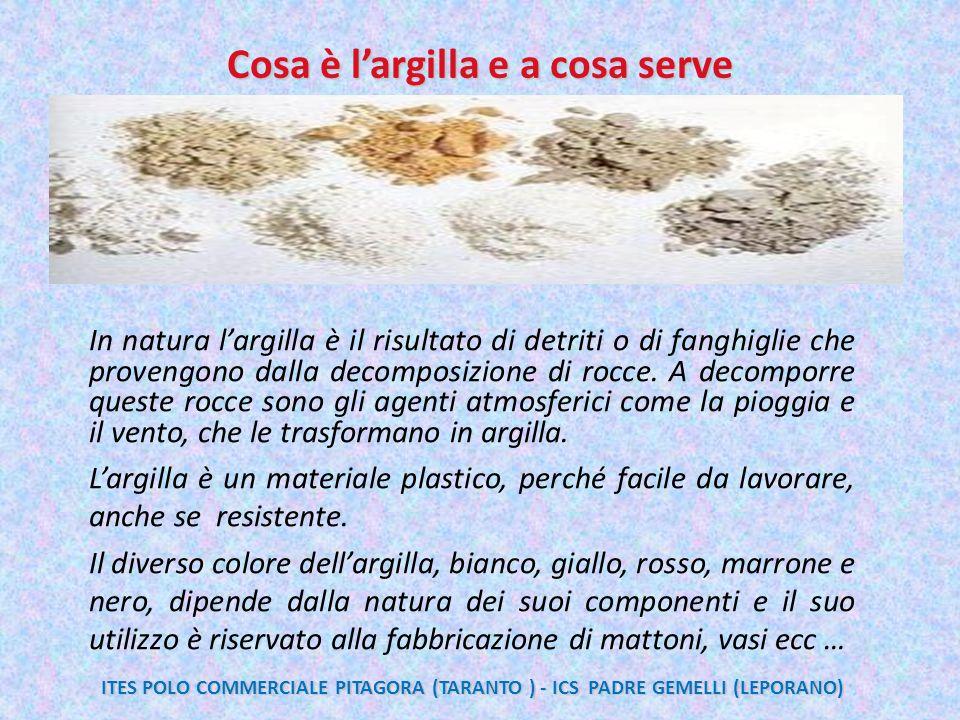 Cosa è l'argilla e a cosa serve In natura l'argilla è il risultato di detriti o di fanghiglie che provengono dalla decomposizione di rocce. A decompor